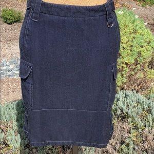 Genuine PRADA Dark Blue Denim Pencil Skirt NWT